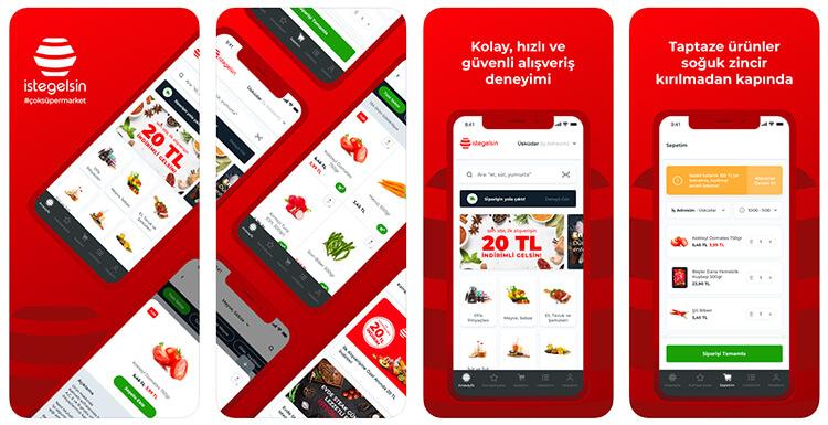 اپلیکیشن سوپر مارکت istegelsin در ترکیه